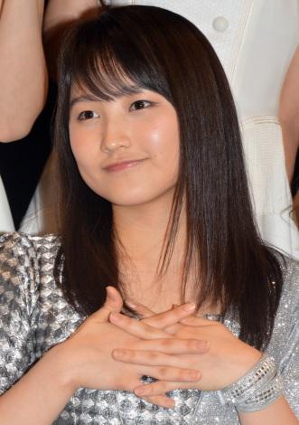 シングル「Oh my wish!/スカッとMy Heart/今すぐ飛び込む勇気」リリースイベントに出席したモーニング娘。'15・鞘師里保 (C)ORICON NewS inc.