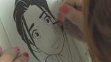 東村アキコ氏の漫画制作現場より(C)NHK