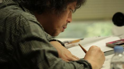 浦沢直樹氏の漫画制作現場 (C)NHK