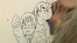 浅野いにお氏の漫画制作現場より(C)NHK