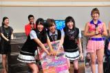 (左から)NMB48の白間美瑠、谷川愛梨、矢倉楓子=『大阪ラフフェス! in 中之島6DAYS LIVE』記者会見の模様
