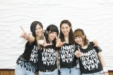 ガールズバンド・LAGOONの動画番組『GO-ON! LAGOON』配信開始(左から)NANA.、YUKINO、MIORI、yuri(C)テレビ朝日