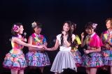 卒業した倉持明日香が10日ぶりに登場したAKB48チームBの「パジャマドライブ」千秋楽公演(C)AKS