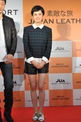 『ベストレザーニスト2015』の記者発表会に出席したホラン千秋