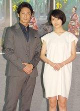 NHK連続テレビ小説『あさが来た』第1週試写会に出席した(左から)玉木宏、波瑠 (C)ORICON NewS inc.