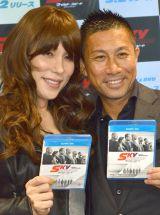 映画『ワイルドスピード SKY MISSION』ブルーレイ&DVDリリース記念イベントに出席した(左から)KABA.ちゃん、前園真聖 (C)ORICON NewS inc.