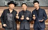 グループ愛を語ったEXILE の(左から)USA、松本利夫、MAKIDAI (C)ORICON NewS inc.
