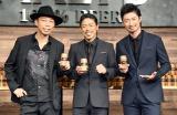 『サントリー ザ モルツ』新CM発表イベントに出席したEXILEの(左から)USA、松本利夫、MAKIDAI (C)ORICON NewS inc.