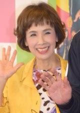 舞台『三匹のおっさん』初日公演後の取材に出席した松金よね子 (C)ORICON NewS inc.