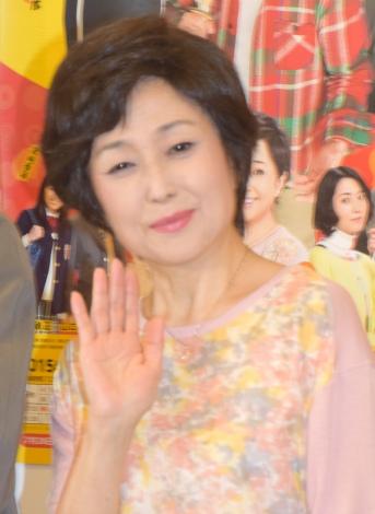舞台『三匹のおっさん』初日公演後の取材に出席した竹下景子 (C)ORICON NewS inc.