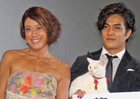 映画『猫侍 南の島へ行く』初日舞台あいさつに出席したLiLiCoと北村一輝 (C)ORICON NewS inc.