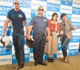 (左から)TKOの木下隆行、菊地亜美、ますだおかだの岡田圭右 (C)ORICON NewS inc.
