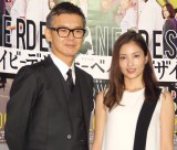 NHKドラマ『デザイナーベイビー』試写会に出席した(左から)渡部篤郎、黒木メイサ (C)ORICON NewS inc.