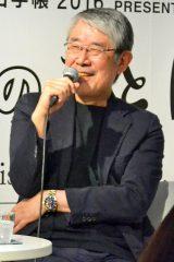 『ほぼ日手帳2016』発売を記念して、糸井重里と共にトークイベントを行った松本隆 (C)oricon ME inc.
