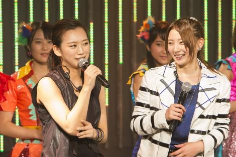 3年ぶりに選抜に復帰した(左から)木下春奈、岸野里香(C)NMB48