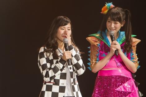 初の選抜入りに涙する石田優美(C)NMB48