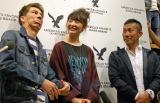 (左から)ファッションショー『〜AEO LIVE YOUR LIFE COLLECTION〜』に登場したJOY、おのののか、前園真聖氏 (C)ORICON NewS inc.