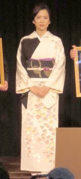 『SAKE COMPETITION 2015』表彰式に出席した和久井映見 (C)ORICON NewS inc.