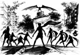 漫画版『サイボーグ009 vs デビルマン』のイラスト  イラスト:吉富昭仁(C)石森プロ (C)永井豪/ダイナミック企画
