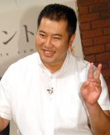 NHK・BSプレミアムのコント番組『七人のコント侍』会見に出席したとにかく明るい安村 (C)ORICON NewS inc.