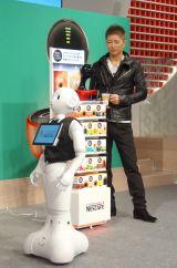 『ネスカフェ ドルチェ グスト ドロップ 未来カフェ』のオープニングイベントに出席したGACKT (C)ORICON NewS inc.