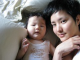 台湾で第1子男児を出産
