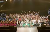 ダンスコンテスト出演者と『ミュージックステーション』生中継でコラボしたPerfume 撮影:柴田恵理
