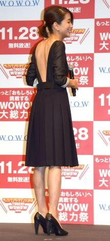 『TOUCH!WOWOW2015』記者会見に出席した内田恭子 (C)ORICON NewS inc.