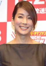 『TOUCH!WOWOW2015』記者会見に出席した内田恭子 (C)ORICON NewS inc.