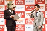 『TOUCH!WOWOW2015』記者会見に出席した(左から)ジャン・ケン・ジョニー、木村裕選手 (C)ORICON NewS inc.