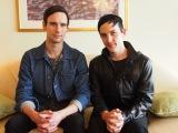 6月に『GOTHAM/ゴッサム』のプロモーションで来日したコリー・マイケル・スミス(左)とロビン・ロード・テイラー(右) (C)ORICON NewS inc.