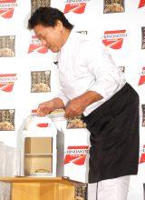 味の素冷凍食品『ザ・チャーハン』のテレビCM発表会に出席した天龍源一郎 (C)ORICON NewS inc.