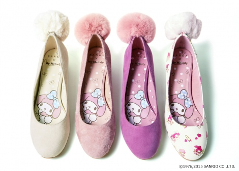 『Fur tail pumps(AS4736)』(税抜価格:11900円) (c)1976,2015 SANRIO CO.,LTD.