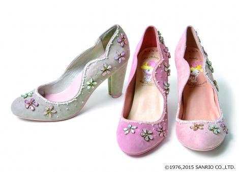 『40th anniversary of flower bijoux pumps(AS4732)』 (税抜価格:13900円) (c)1976,2015 SANRIO CO.,LTD.