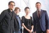 (左から)ジョー・ライト監督、リーヴァイ・ミラー、松田聖子、ヒュー・ジャックマン (C)ORICON NewS inc.