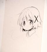 ライブドローイングで描いた「ひだまり」ゆの (C)蒼樹うめ/芳文社(C)Magica Quartet/Aniplex・Madoka Movie Project Rebellion (C)ORICON NewS inc.