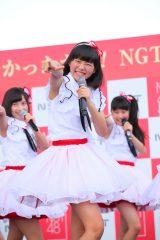 「君に会いたかったから!NGT48全員揃えちゃいましたLIVE」に出演したNGT48・小熊倫実(C)AKS
