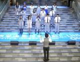 同会見ではキャスト陣が合唱の定番曲「翼をください」を歌唱(C)ORICON NewS inc.