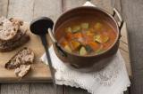 手作り玄米ミルクで作った「ミネストローネ風スープ」 ※『玄米ミルクやせ』(主婦の友社)より