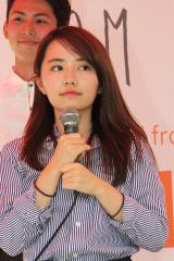 トークイベントを行った女子高生起業家の椎木里佳さん
