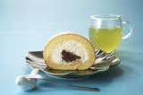 「銀座瑠璃」の『堂島あずきロール』とオリジナルの『べっぴん茶』