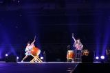 オープニングでは外岡えりかと横山ルリカが和太鼓の生演奏を披露