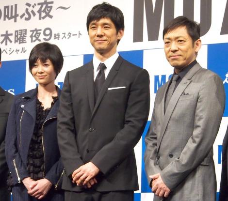 (左から)真木よう子、西島秀俊、香川照之 (C)ORICON NewS inc.