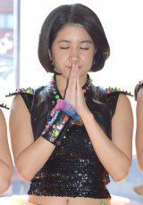 シングル「トゲトゲ」のヒット祈願を行ったさんみゅ〜の長谷川怜華 (C)ORICON NewS inc.