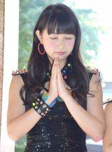 シングル「トゲトゲ」のヒット祈願を行ったさんみゅ〜の山内遥 (C)ORICON NewS inc.