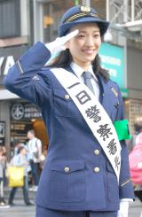 大阪・南警察署の一日警察署長に任命された野々すみ花 (C)ORICON NewS inc.