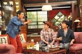 2ヶ月に1回のペースでさんま(左)と食事会をしているというスピードワゴンの小沢(右)(C)関西テレビ