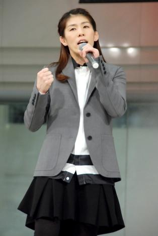 初ライブを行った吉田沙保里選手=デビュー曲「目を覚ませ」リリース記念イベント (C)ORICON NewS inc.