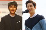 第20回釜山国際映画祭に登場したEXOのリーダー・スホ(右)とディオ(ド・ギョンス)