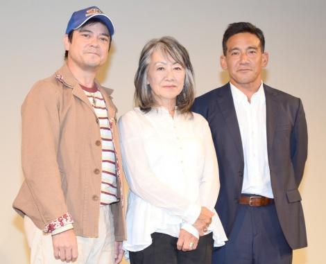 製作記者会見に出席した(左から)川平慈英、奈良橋陽子氏、野村祐人=『京都国際映画祭2015』 (C)ORICON NewS inc.